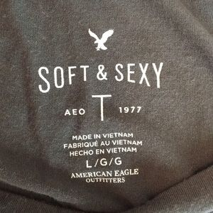 American Eagle Outfitters Tops - Soft and Sexy Grey T-Shirt American Eagle Large